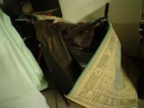 The amp wrapped in blankets